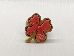 Ring Clover Size 53 Pink Color Accessory For Woman From Japan Used