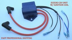 New Suzuki Outboard 32900-98110 - Cdi Unit W// Ignition Coil 2 Cylinder 8hp Part