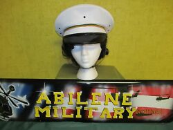 Us Army Military Police Mp White Service Dress Uniform Hat Cap 7 3/8 1969 Issue