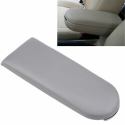 For Vw Volkswagen Car Center Console Armrest Cover Lid Parts Grey Leather New