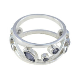Iolite 92.5 Sterling Silver Ring Homemade Jewelry For Good Friday Gift Us