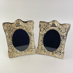 Vintage Pair Of Sterling Silver Mounted Carr's Sheffield Photo Photograph Frames