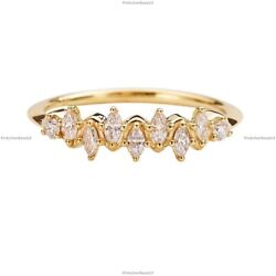 Gift For Her 14k Yellow Gold Natural Diamond Floating Cluster Birthday Ring