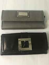 Lot of 2 Womens Clutch Purses Gray Nine West Brown Aldo Small Bag Free Shipping $14.44