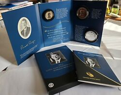 2016 W Ronald Reagan President Coin And Chronicles Set With Silver Eagle