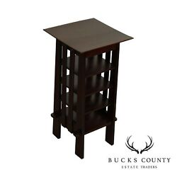 Michigan Chair Company Antique Arts And Crafts Mahogany Magazine Stand Bookcase