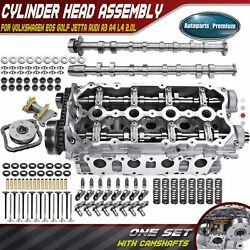 Engine Cylinder Head And Valves And Camshaft And Bolts For Audi A3 A4 Vw Jetta L4 2.0l