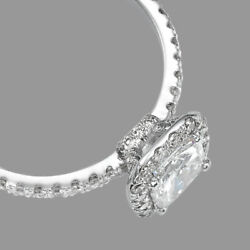 1.75 Ct Womenand039s Cushion Cut Diamond Engagement Ring 14k White Gold H/si2