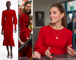 ZARA WOMAN RED RIBBED KNIT JUMPER PUFF SLEEVES DRESS 2162 002 ASO KATE LARGE $109.00
