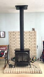 Vermont Castings Stardance Direct Vent Brown Enamel Gas Stove W/ All Vent Pipe
