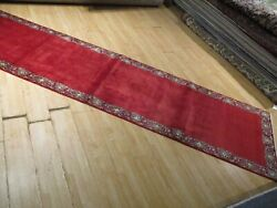 13 Feet Runner Hand-made-knotted Wool Rug H-192