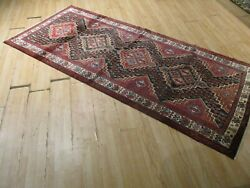 9 Feet Runner Hand-made-knotted Wool Rug 583490