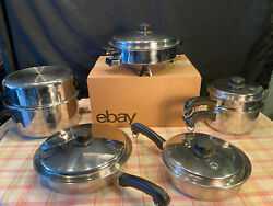 Older Saladmaster Cookware Collection - 18 8 Stainless Steel - 11 Pieces