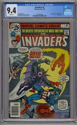 Invaders 7 Cgc 9.4 1st Union Jack And Baron Blood White Pages