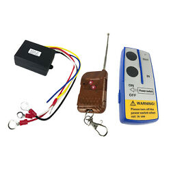 12v 75ft Car Winch Wireless Remote Control Switch Controller Key System Kit