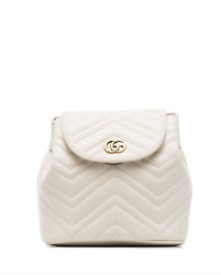 Sold Out White Marmont Matelassé Leather Backpack