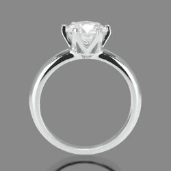 1 1/2 Ct Solitaire Diamond Engagement Ring Round Cut H/si2 14k White Gold