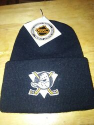 Nos 2vintage 1990and039s Anaheim Mighty Ducks Nhl Beanie Cap