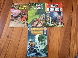 Scary Horror Vintage Comics - Lot Of 4 Swampthing, Grimm, Vault Of Horror