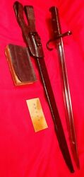 Wwii Japanese Imperial Army, Kokura Type 30 Bayonet And Tactical Field Guide