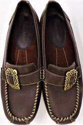 Bare Traps Size 7.5m Padora Brown Low-heel Loafers Leather Uppers