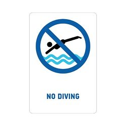 No Diving Pool Sign Rust Free Uv Print Weatherproof Used Indoor And Outdoor