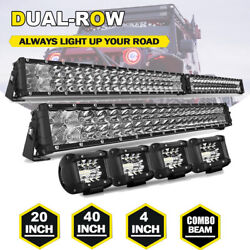 Dual Rows 22inch 40inch 4inch Led Light Bar Flood Spot Combo For Offroad Suv Atv