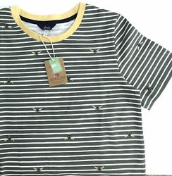 Joules 🐝 Liberty Jersey Dress - Green Bee Stripe Size 10-12uk /40andrdquo. Rrp Andpound39.95