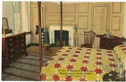 George Washington's Bedroom At Valley Forge In Winter Pennsylvania Postcard