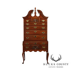 Hickory Chair Mahogany Queen Anne Style Highboy, James River Plantation B