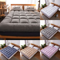 Mattress Pad Cover 72d Hollow Fiber Soft Bed Topper Protector Cooling Cotton Top