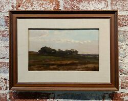 19th Century Impressionist Landscape With Lake View -oil Painting