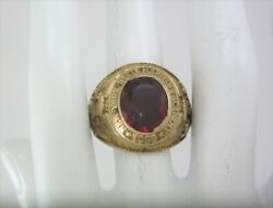 Vintage 10k Yellow Gold New York State Maritime Academy 1950 Class Ring 25.7g