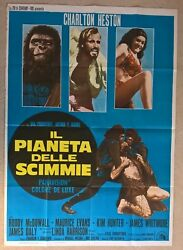 Planet Of The Apes 1968 Italian Original Poster . 39 X 55 Inches