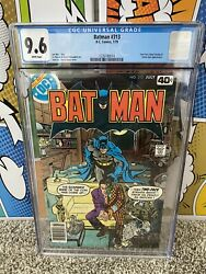 Cgc 9.6 New Batman 313 1st Tim Fox Timothy Future State Two-face Catwoman Nm+