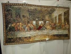 The Da Vinci Last Supper Jesus Dining Woven Tapestry Wall Hanging Art Decor
