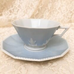 Nymphenburg Perl Blue Teacup And Saucer 5 Mint
