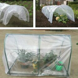2.4mil Plastic Covering Clear Greenhouse Film Plant Coverandfrost Blanket 12x75ft