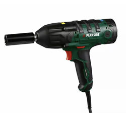 Parkside Powerful 450w Electric Car Impact Wrench 1/2 Drive 4 Sockets Case