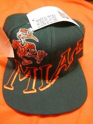 Vintage Miami Hurricanes The Game Snapback Hat Cap Nwt