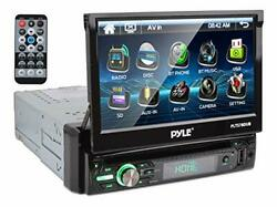Single Din Head Unit Receiver In Dash Car Stereo Touch Screen Hd Display Black