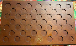 Us Presidential Dollar Collection Of Presidents Coins Wooden Box 11x18