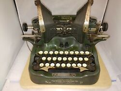 The Oliver Typewriter The Printype No. 9 - Military Green - Antique June, 1913