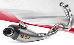Full Exhaust Akrapovic Road Steel Approved For Kawasaki Versys 650 2017