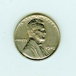 Rare 1943 Doubled Die Obverse Fs101 Lincoln Cent