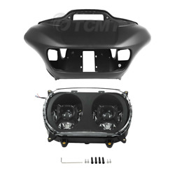 Matt Inner Outer Fairing And Led Dual Headlight Fit For Harley Road Glide 2015-up
