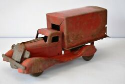 Antique Toy Truck Diecast Metal Covered Wagon Truck Pressed Steel Toy Deliverf1