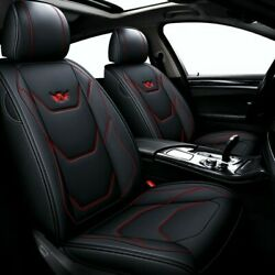 Car 5-seat Leather Seat Cover Cushion For Toyota Camry Corolla Rav4 Front+rear