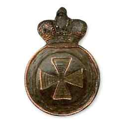 Antique 1910s Russian Empire Original Badge Order St. Anne, 4th Art. On Weapons