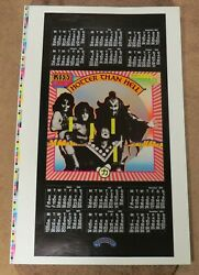 Kiss Hotter Than Hell Promotional Calendar Printers Proof Poster 1974 Aucoin